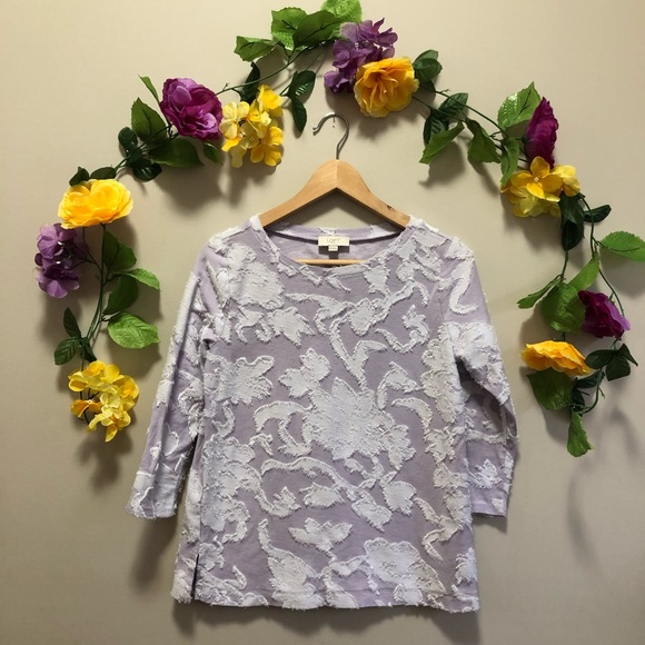 LOFT Tops - LOFT Pretty Lilac Tee / Top /t-shirt Small